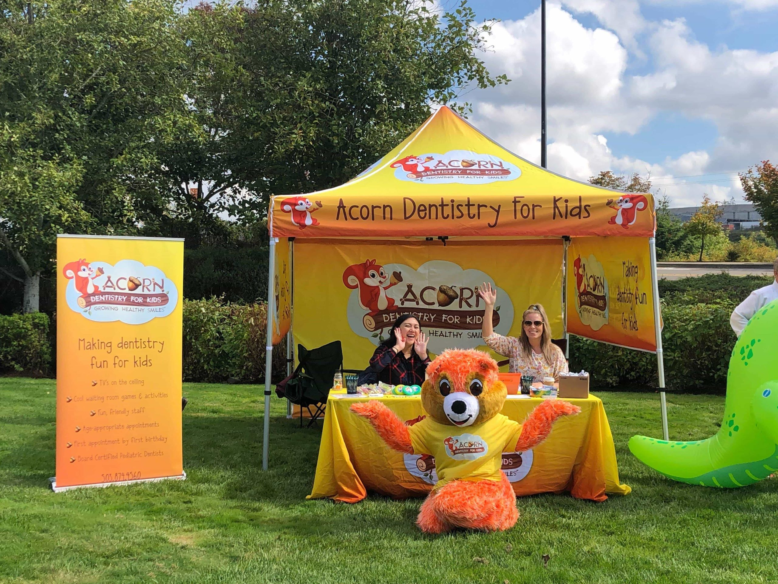 Pip With Acorn Dentistry Booth