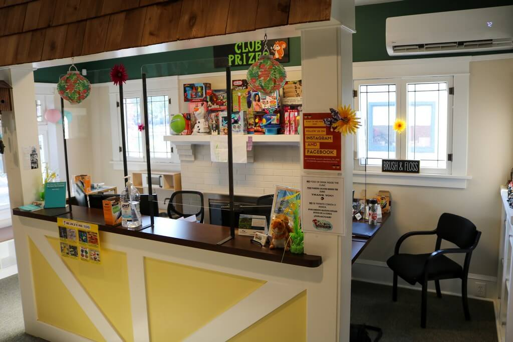 Interior of Silverton office with front desk