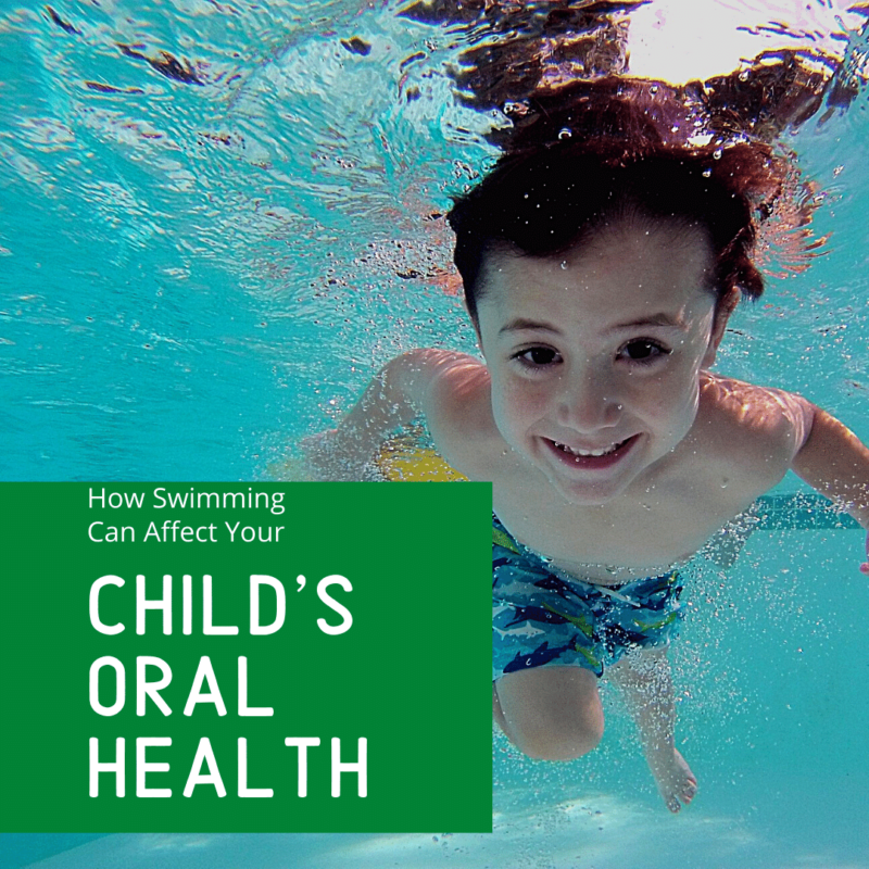 how swimming affects your child's oral health